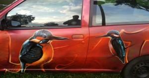 malowanie aerografem pojazdu, malowanie tuningowe 16