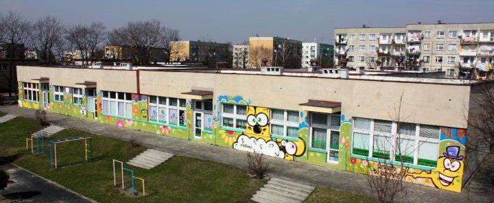 Mural na ścianie szkoły - Nietak.eu
