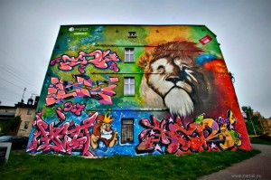 mural gaffiti lew, kultura i sztuka 1