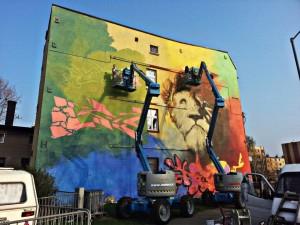 projekt muralu gaffiti lew, kultura i sztuka