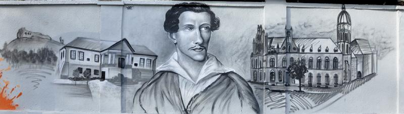 Malowanie murali - Juliusz Słowacki Nietak.eu