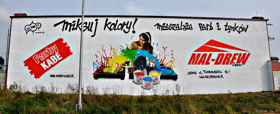 Mural dla szkoły - Nietak.eu