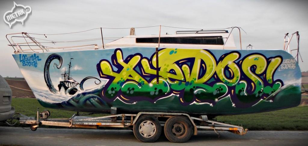 nietak.eu,malowanie łodzi, malowanie artystyczne,boat graffiti