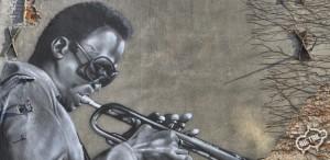Miles Davis mural, kultura i sztuka Gliwice 2