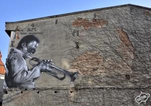 Miles Davis mural, kultura i sztuka Gliwice 1