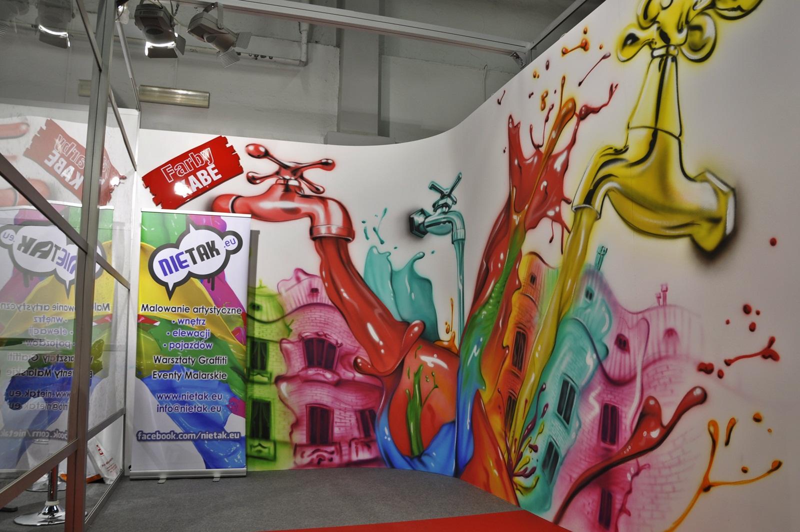 nietak, malowanie aertystyczne, farby kabe, targi kielce, targi psb, malowanie wnętrz, airbrush