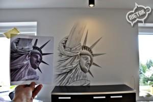 statua wolności graffiti, dekorowanie wnętrz 3