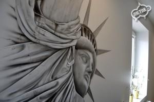 statua wolności graffiti, dekorowanie wnętrz 2