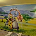 madagaskar graffiti, dekorowanie wnętrz 1