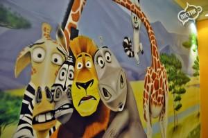 madagaskar graffiti, dekorowanie wnętrz 2