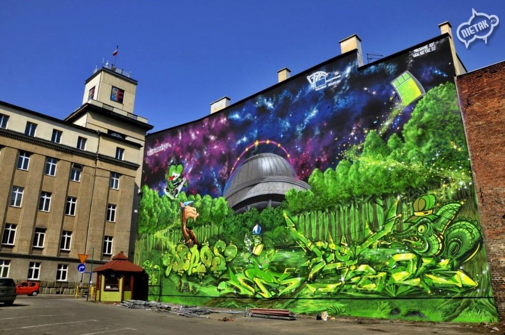 nietak,mural w chorzowie, malowanie artystyczne, mural, warsztaty graffiti , murale w polsce, murale, graffiti
