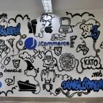 jcommerce na ścianie, graffiti, dekorowanie wnętrz