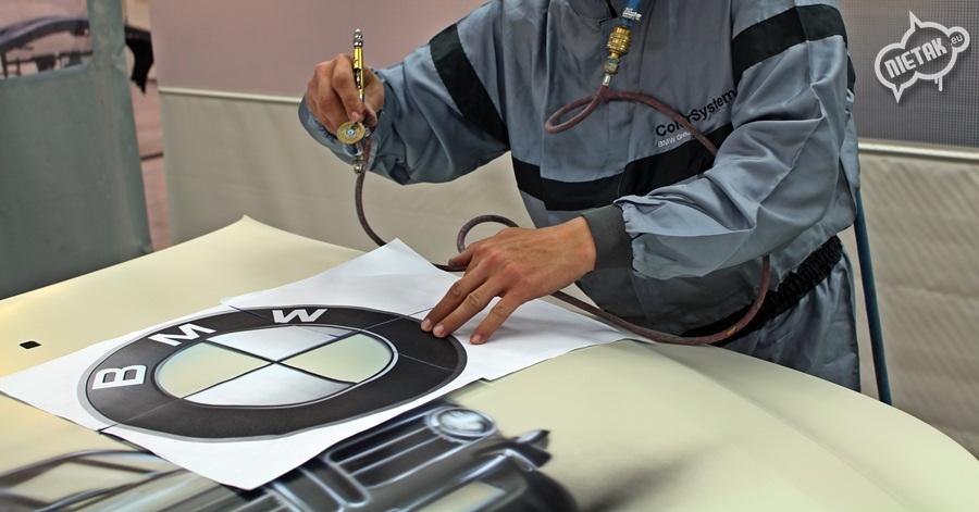 Malowanie maski pojazdu dla BMW Bawaria Motors