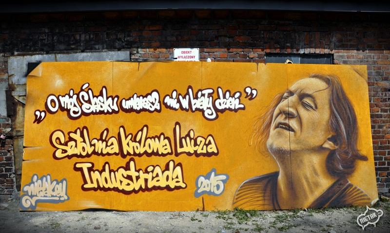 jan kyks skrzek graffiti portret,nietak, malowanie portretow, zabrze