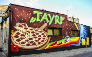Pizzeria, restauracja, graffiti