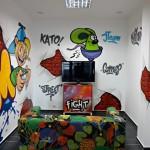 mini salon gier graffiti, dekorowanie wnetrz