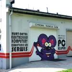 myszka, graffiti