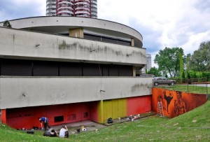 karate, szkoła, graffiti