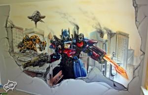 transformers graffiti, dekorowanie wnętrz