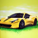 Lamborghini, malowanie wnętrz