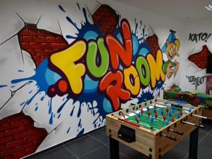 fun room, dekorowanie wnętrz