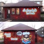 kebab, graffiti