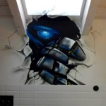 dłoń optimusa graffiti, dekorowanie wnętrz