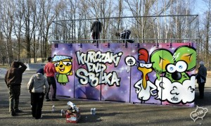 Kurczaki graffiti, warsztaty graffiti