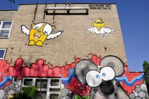 animowana myszka, graffiti