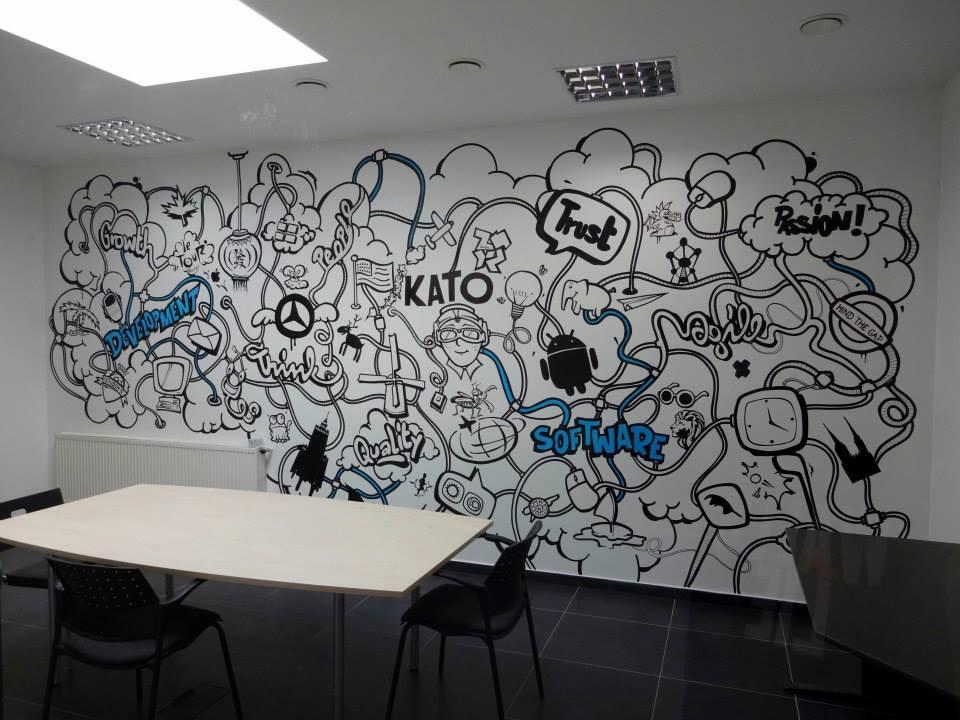 Graffiti w pomieszczeniach biurowych - Nietak.eu