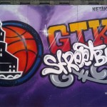 street ball, graffiti
