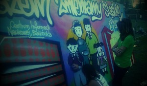 warsztaty gaffiti, czternastolatki