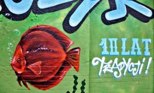 ryba, graffiti