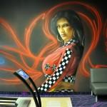 malowanie uv, malowanie kręgielni, graffiti 2