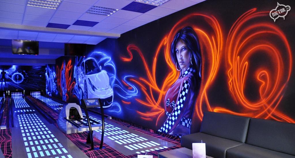 malowanie uv, malowanie kręgielni, graffiti 11
