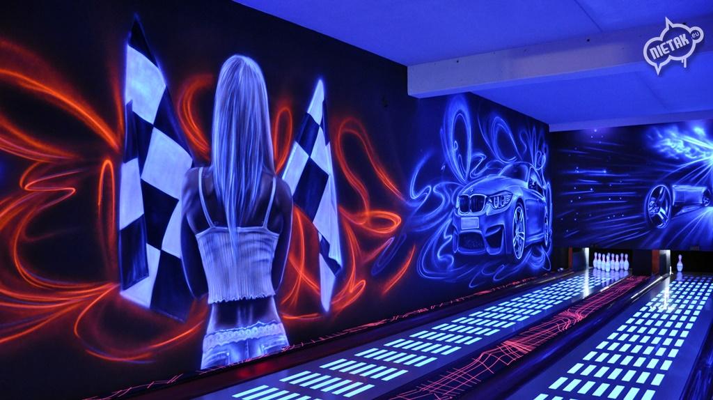 malowanie uv, malowanie kręgielni, graffiti 16