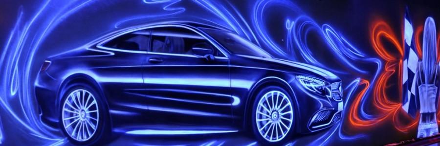 Malowanie techniką UV Kręgielni