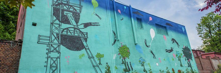 Mural na akademię muzyczną