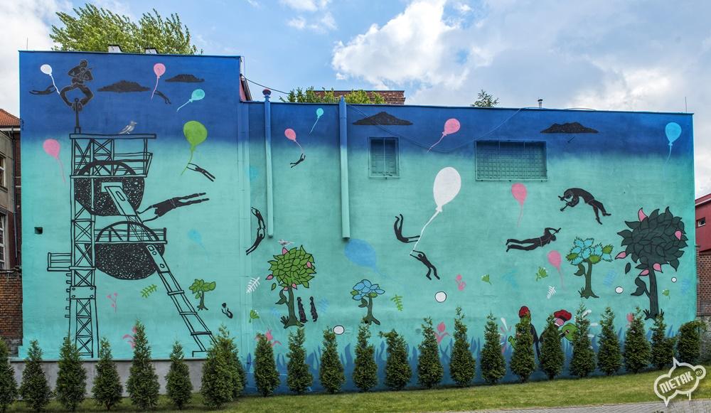 Mural Katowice akademia