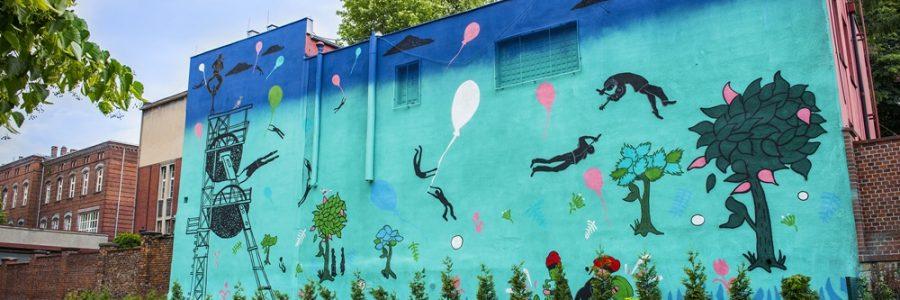 Murale reklamowe w Katowicach – NieTak.eu – profesjonalni twórcy murali