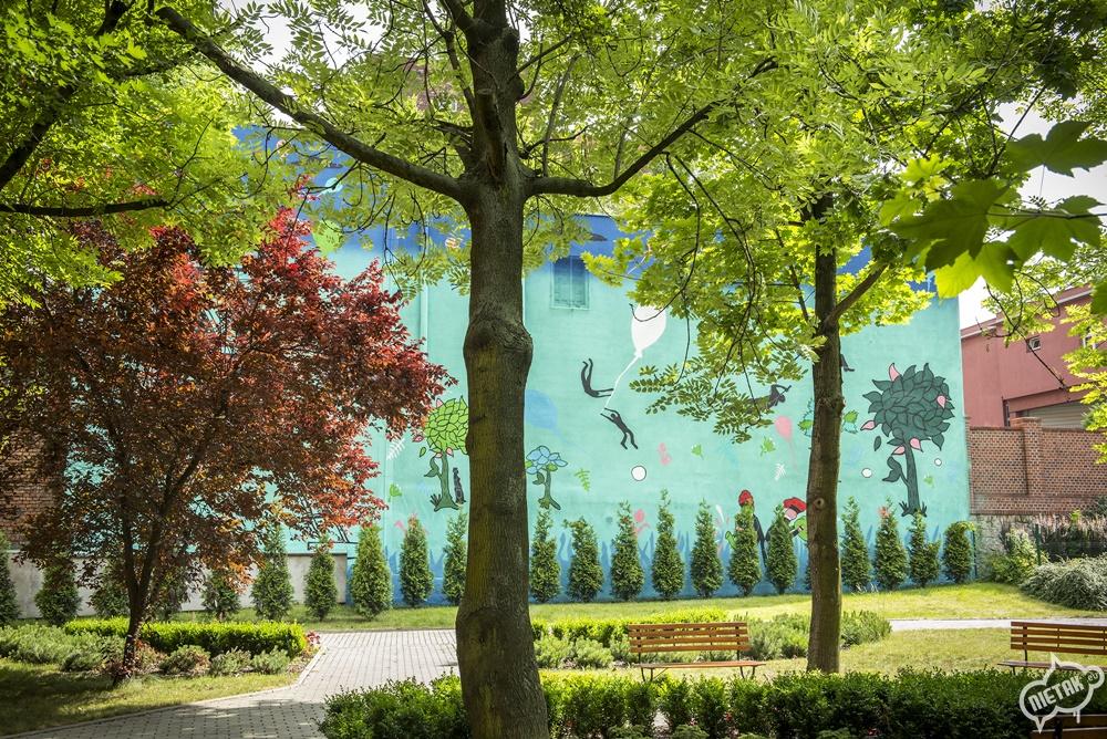 Murale na akademi muzycznej