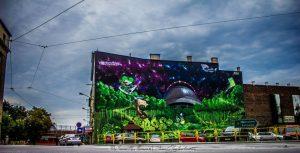 artystyczne malowanie graffiti - mural