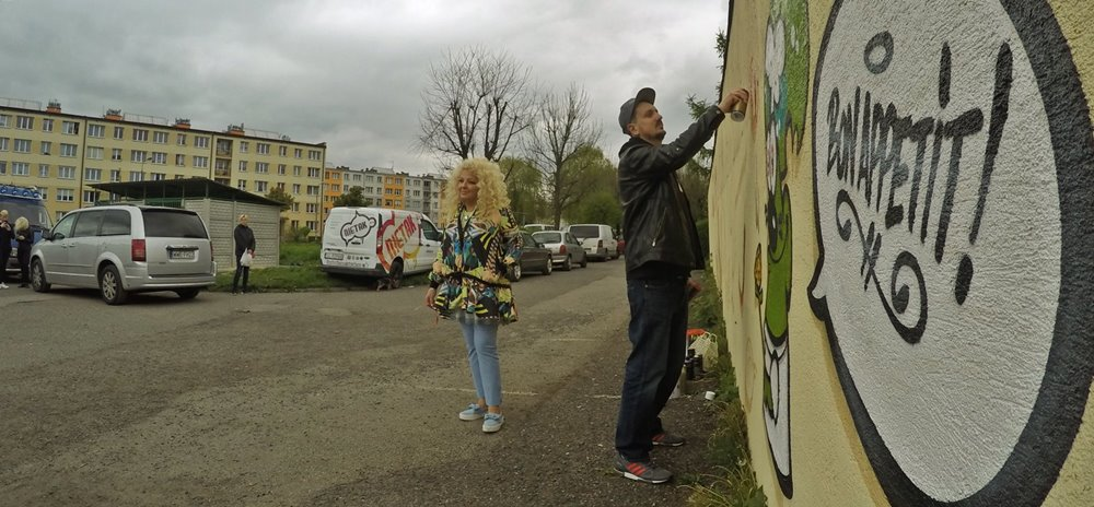 Graffiti z Magdą Gessler