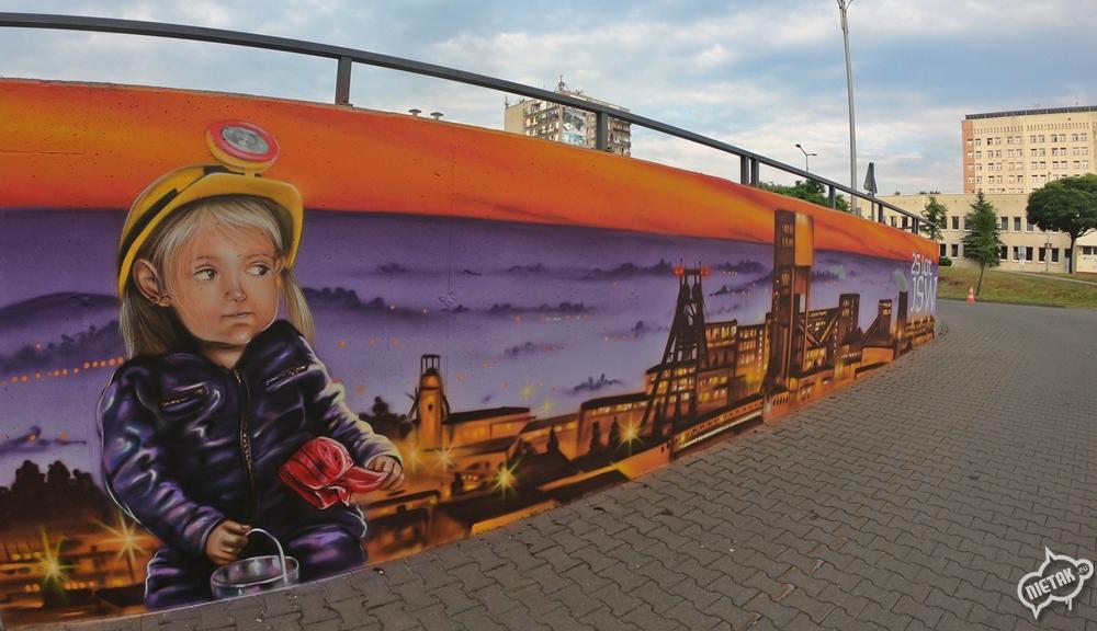 Mural dla Jastrzębskiej spółki węglowej - nietak.eu