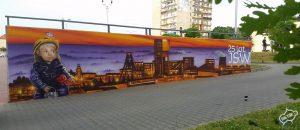 Mural JSW Jastrzębska spółka węglowa - nietak.eu