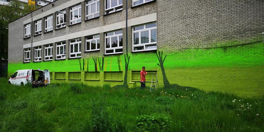 Mural na szkole w Katowicach - Nietak.eu