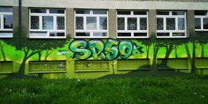 Mural na szkole Podstawowej im. Jana Matejki w Katowicach - Nietak.eu