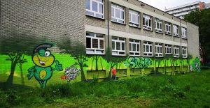 Mural dla szkoły Podstawowej nr 59 im. Jana Matejki w Katowicach - Nietak.eu