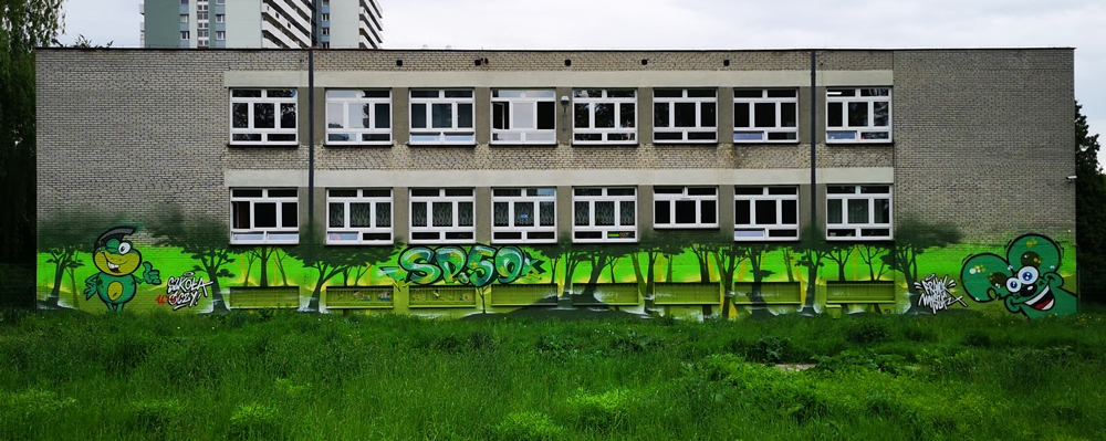 Mural dla szkoły Podstawowej im. Jana Matejki w Katowicach - Nietak.eu
