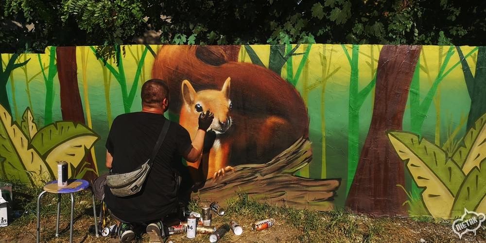 Mural przyrodniczy w Kochłowicach - Nietak.eu